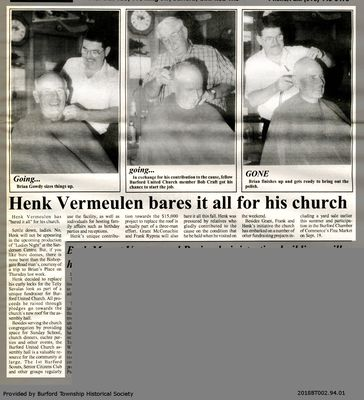 Henk Vermeulen bares it all for his church