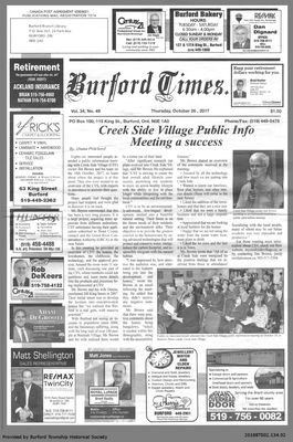 Cover Page - final edition of the Burford Times
