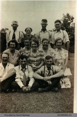 Photograph of Kemkes Family Reunion, June 1945