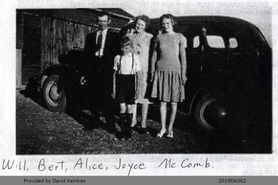 Photograph of McComb Family Members with Car