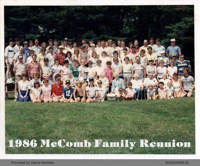 Photograph of McComb Family Reunion