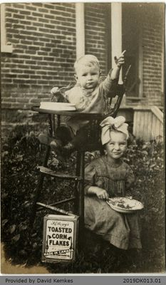 Birthday Postcard Sent to Hugh and Bessie McComb