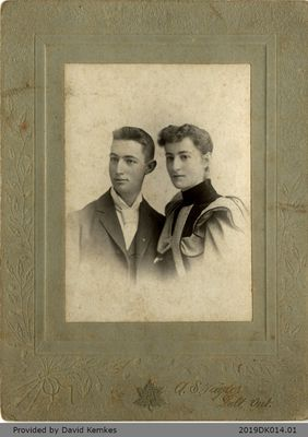 Framed Photograph of Maud and Bert Rosebrugh