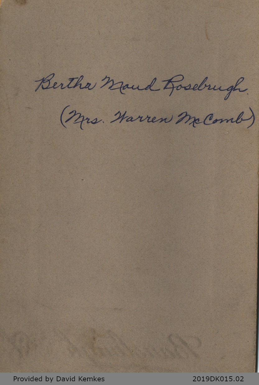 Photograph of Bertha Maud Rosebrugh
