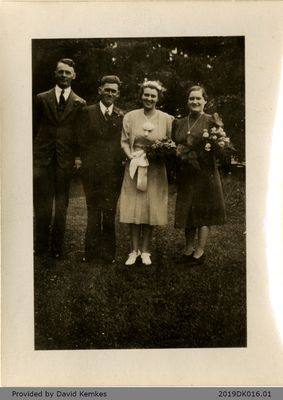 Wedding Photograph Related to Kemkes-McComb Families