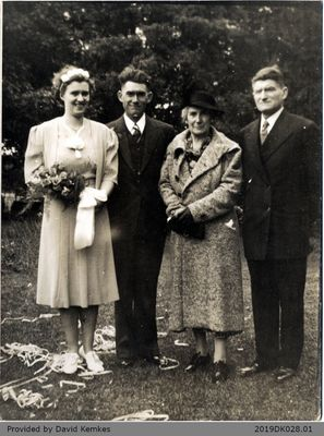Photograph of Bessie and Will Kemkes with Parents