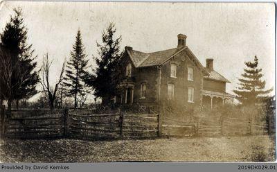 Postcard Photograph of McComb Home