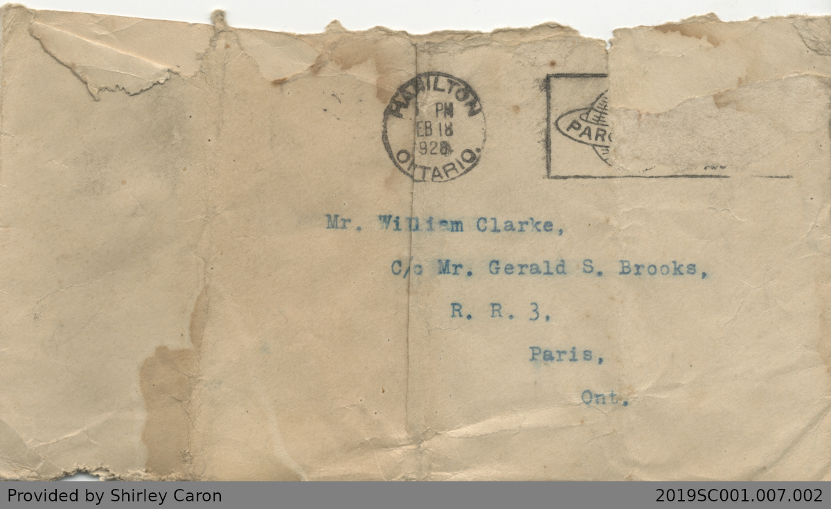 Letter to William Clarke from Eveline Hills of National Children's Home and Orphanage