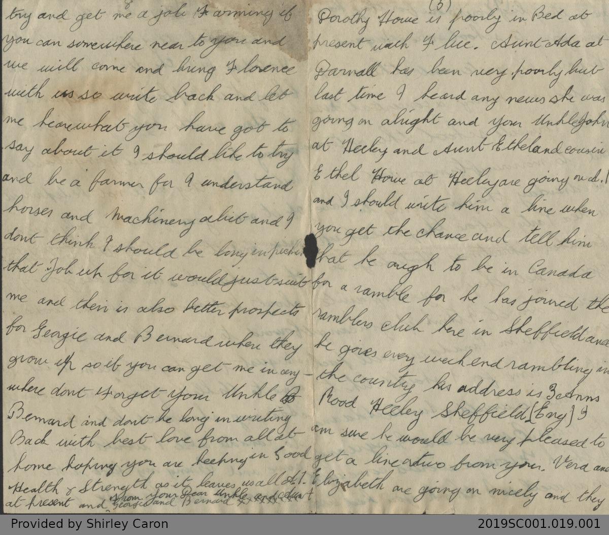 Letter to William Clarke from Bernard Mason