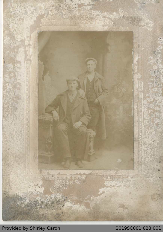 Frame Photograph of Two Men Taken in a Studio, Paris