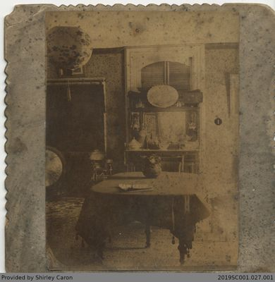 Framed Photograph of the Inside of a Home