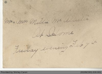 Letter to Mr. and Mrs. Darnley