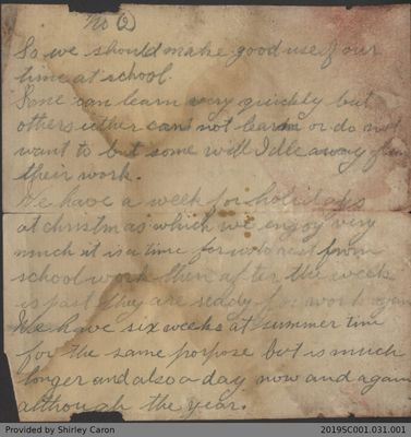Letter from Arthur Darnley and Death Notices