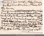 Letter to George Foster and Sons from Robert Harbottle