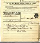 Telegram to George Foster and Sons from Thomas McCosh