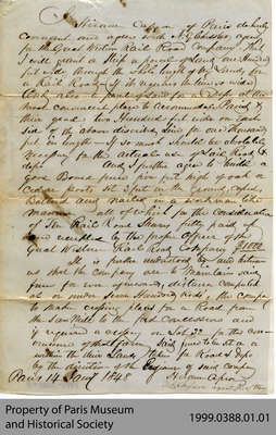Land agreement with Great Western Railroad Company