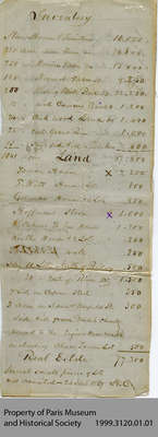 Inventory of Hiram Capron's Lands