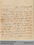 Letter from W.G. Keele to Hiram Capron Confirming Land Sales