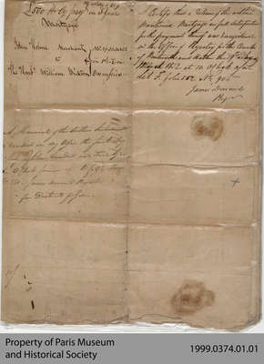 Mortgage Between John Holme and William Dickson