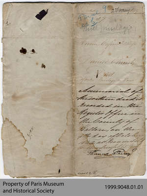 Indenture of Water Privileges between Hiram Capron, Mary De Long Capron and Daniel Church