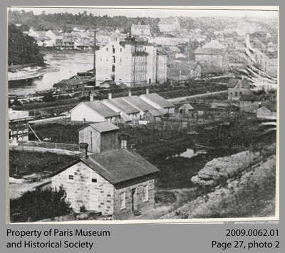 View of Paris from East Side of Dundas St. Bridge, c. 1875