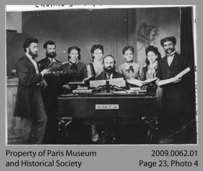 YMCA Choral Society in Paris, On, c. 1890