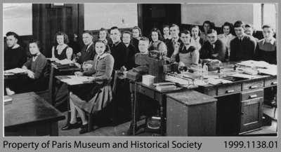 Paris High School Grade 13 English Class, 1941