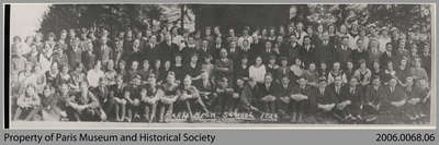 Paris High School Staff and Students, 1925