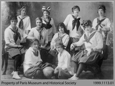 Paris High School Girls' Basketball Team, c. 1915-18