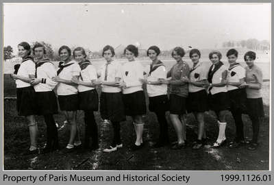 Paris High School Girls' Track Team, 1929