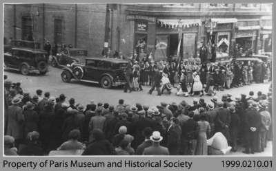 View of Paris Coronation Day Parade, May 12, 1937