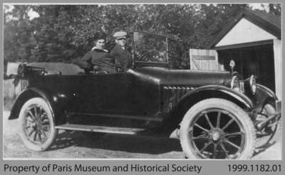 John Harold and Wife in Chalmers Touring Car, c. 1916