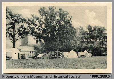 Postcard of Paris Tourist Camp, c. 1926