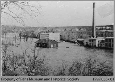 Flood at Penman's Mills, 1912