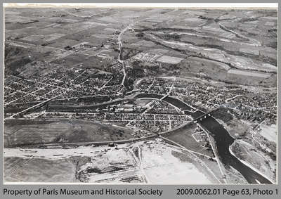 Aerial View of Paris c. 1946