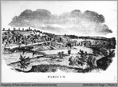 Lithograph View of Paris, c. 1855
