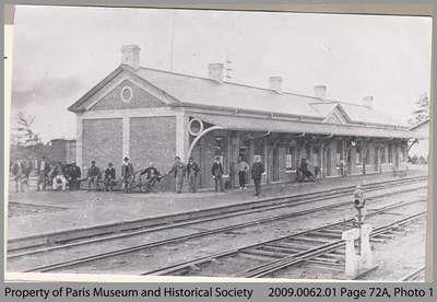 Passengers Waiting at Paris Junction Station