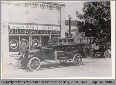 First Motorized Fire Truck in Paris, 1918