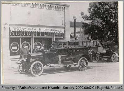 First Motorized Fire Truck in Paris, 1918