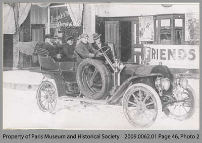 Richard Thompson's Car outside Movie Theatre, Paris, c. 1913