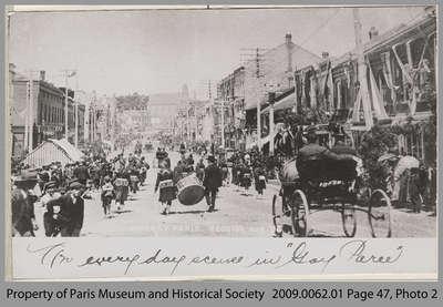 Parade during Old Boys' Reunion, 1905