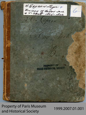 Hiram Capron's Account Book and Division of Hollow Ware