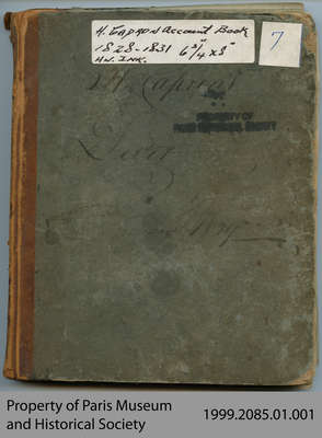 Hiram Capron Account Book, 1828-1831