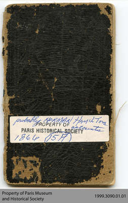 Hiram Capron or Norman Hamilton Miniature Account Book, 1866-68