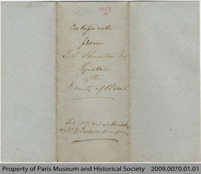 Statement of No Ownership for Lot 7 East of Burwell and Lot 7 East Side Dumfries, 1853