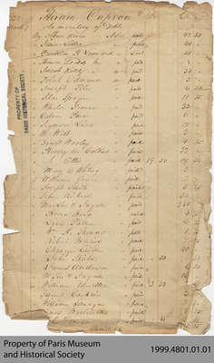 Unbound Hiram Capron Ledger, 1832-1859