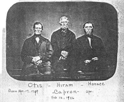 Photo of Hiram, Otis, and Horace Capron