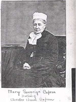 Photograph of Mary Sovereign Capron, Horace Capron's Third Wife