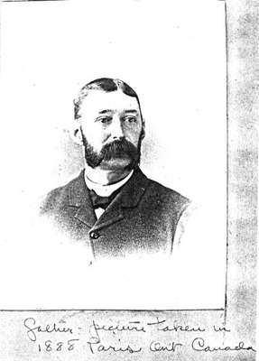 Charles Bruce Capron, son of Horace Capron, 1888