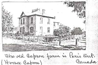 Horace Capron's Farm House, Paris, Ontario